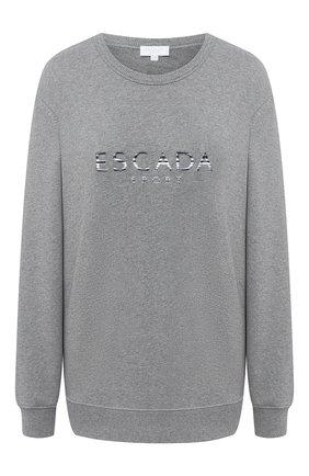 Женская хлопковый свитшот ESCADA SPORT серого цвета, арт. 5033325 | Фото 1