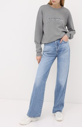 Женская хлопковый свитшот ESCADA SPORT серого цвета, арт. 5033325 | Фото 2