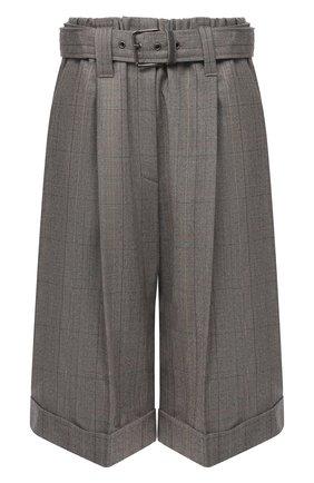 Женские шерстяные шорты BRUNELLO CUCINELLI коричневого цвета, арт. MA191P7348 | Фото 1