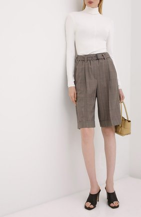 Женские шерстяные шорты BRUNELLO CUCINELLI коричневого цвета, арт. MA191P7348 | Фото 2