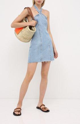 Женское джинсовое платье GRLFRND голубого цвета, арт. GF43828821356 | Фото 2