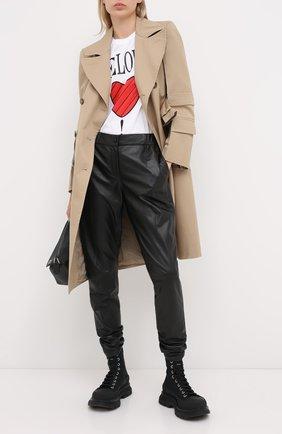 Женские кожаные брюки WINDSOR черного цвета, арт. 52 DL401 10008344 | Фото 2