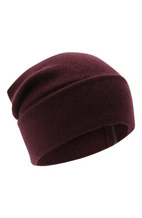 Женский кашемировая шапка BRUNELLO CUCINELLI бордового цвета, арт. M12163199 | Фото 1