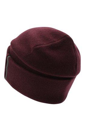 Женский кашемировая шапка BRUNELLO CUCINELLI бордового цвета, арт. M12163199 | Фото 2