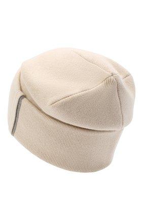 Женская кашемировая шапка BRUNELLO CUCINELLI светло-бежевого цвета, арт. M12163199 | Фото 2