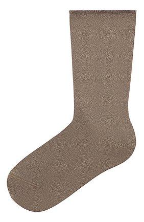 Женские носки из кашемира и шелка BRUNELLO CUCINELLI коричневого цвета, арт. M41945019   Фото 1