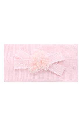 Детская шерстяная повязка CATYA розового цвета, арт. 024814/G | Фото 1