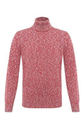 Мужской свитер из шерсти и кашемира BRUNELLO CUCINELLI красного цвета, арт. M26500603 | Фото 1 (Материал внешний: Кашемир, Шерсть; Принт: Без принта; Мужское Кросс-КТ: Свитер-одежда; Длина (для топов): Стандартные; Рукава: Длинные)