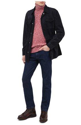 Мужской свитер из шерсти и кашемира BRUNELLO CUCINELLI красного цвета, арт. M26500603 | Фото 2