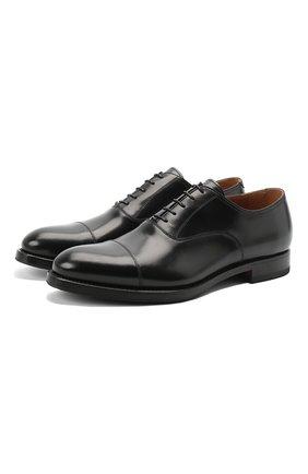 Мужские кожаные оксфорды W.GIBBS черного цвета, арт. 8378003/0221 | Фото 1