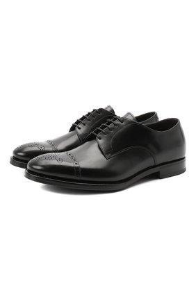 Мужской кожаные дерби H`D`S`N BARACCO черного цвета, арт. 80212.2G* | Фото 1