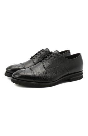 Мужской кожаные дерби H`D`S`N BARACCO черного цвета, арт. 80213.2* | Фото 1