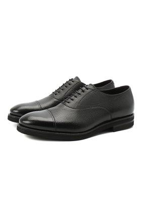 Мужские кожаные оксфорды H`D`S`N BARACCO черного цвета, арт. 80302.2* | Фото 1