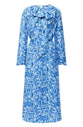 Женское шелковое платье VALENTINO голубого цвета, арт. UB3VAT555L7 | Фото 1