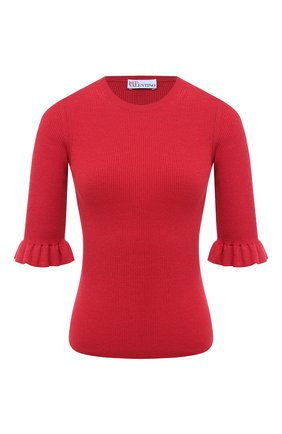 Женский пуловер из шерсти и шелка REDVALENTINO красного цвета, арт. UR3KC05N/4A7 | Фото 1