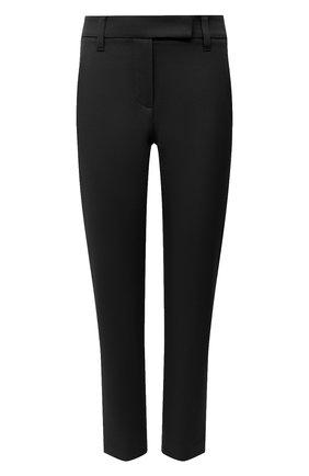 Женские хлопковые брюки BRUNELLO CUCINELLI черного цвета, арт. MP126P7258 | Фото 1