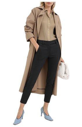 Женские хлопковые брюки BRUNELLO CUCINELLI черного цвета, арт. MP126P7258 | Фото 2