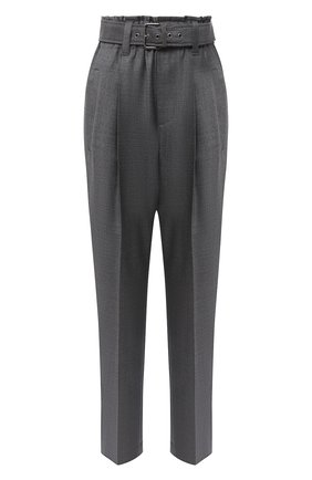 Женские шерстяные брюки BRUNELLO CUCINELLI темно-серого цвета, арт. MP31PP7375 | Фото 1 (Длина (брюки, джинсы): Стандартные; Материал внешний: Шерсть; Женское Кросс-КТ: Брюки-одежда; Силуэт Ж (брюки и джинсы): Прямые; Стили: Кэжуэл)