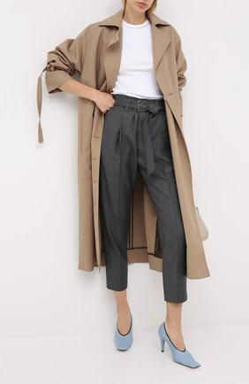 Женские шерстяные брюки BRUNELLO CUCINELLI темно-серого цвета, арт. MP31PP7375 | Фото 2 (Длина (брюки, джинсы): Стандартные; Материал внешний: Шерсть; Женское Кросс-КТ: Брюки-одежда; Силуэт Ж (брюки и джинсы): Прямые; Стили: Кэжуэл)