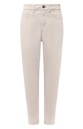 Женские джинсы BRUNELLO CUCINELLI бежевого цвета, арт. MP93PP5534 | Фото 1 (Материал внешний: Хлопок; Длина (брюки, джинсы): Стандартные; Стили: Кэжуэл; Кросс-КТ: Деним)