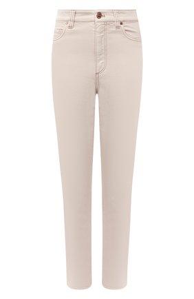 Женские джинсы BRUNELLO CUCINELLI бежевого цвета, арт. MPH43P5574 | Фото 1 (Длина (брюки, джинсы): Стандартные; Материал внешний: Хлопок, Деним; Стили: Кэжуэл; Кросс-КТ: Деним)