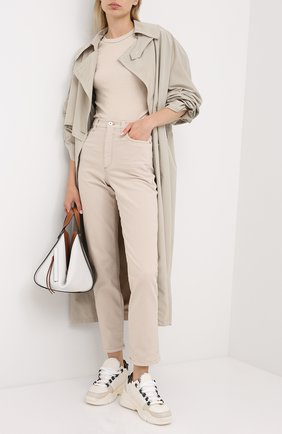 Женские джинсы BRUNELLO CUCINELLI бежевого цвета, арт. MPH43P5574 | Фото 2