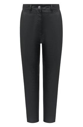 Женские кожаные брюки BRUNELLO CUCINELLI черного цвета, арт. MPNBGP7425 | Фото 1