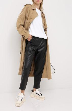 Женские кожаные брюки BRUNELLO CUCINELLI черного цвета, арт. MPNBGP7425 | Фото 2