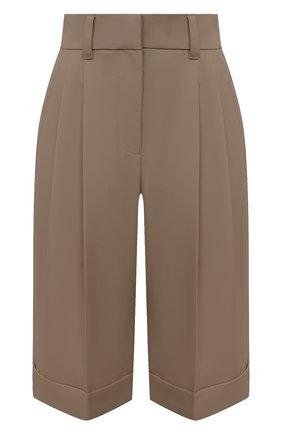 Женские шерстяные шорты BRUNELLO CUCINELLI темно-бежевого цвета, арт. MP171P7322 | Фото 1