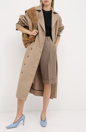 Женские шерстяные шорты BRUNELLO CUCINELLI темно-бежевого цвета, арт. MP171P7322 | Фото 2