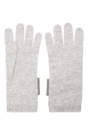 Женские кашемировые перчатки BRUNELLO CUCINELLI серого цвета, арт. M12171679P | Фото 2