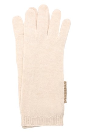 Женские кашемировые перчатки BRUNELLO CUCINELLI светло-бежевого цвета, арт. M12171679P | Фото 1