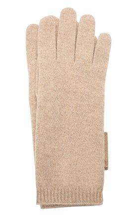 Женские кашемировые перчатки BRUNELLO CUCINELLI темно-бежевого цвета, арт. M12171679P | Фото 1