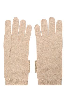 Женские кашемировые перчатки BRUNELLO CUCINELLI темно-бежевого цвета, арт. M12171679P | Фото 2