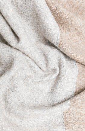 Женский шарф BRUNELLO CUCINELLI бежевого цвета, арт. MSCDAR072 | Фото 2 (Материал: Шерсть, Кашемир)