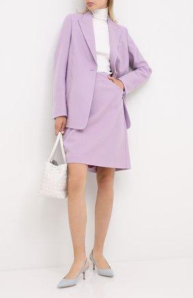Женский шерстяной жакет WINDSOR фиолетового цвета, арт. 52 DS421V 10005463 | Фото 2