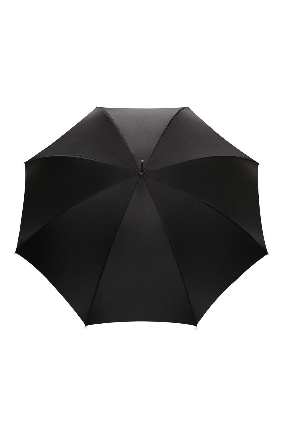 Женский зонт-трость PASOTTI OMBRELLI черного цвета, арт. 189N/RAS0 9B460/13/I35   Фото 1 (Материал: Текстиль, Металл)