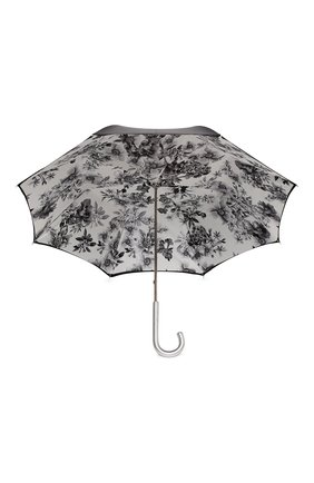 Женский зонт-трость PASOTTI OMBRELLI черного цвета, арт. 189N/RAS0 9B460/13/I35   Фото 3 (Материал: Текстиль, Металл)