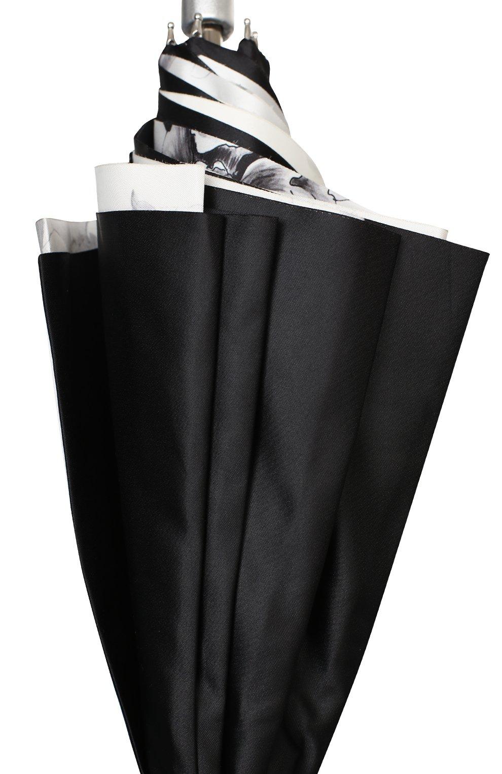 Женский зонт-трость PASOTTI OMBRELLI черного цвета, арт. 189N/RAS0 9B460/13/I35   Фото 5 (Материал: Текстиль, Металл)