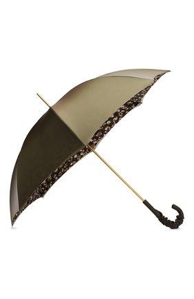 Женский зонт-трость PASOTTI OMBRELLI зеленого цвета, арт. 189/RAS0 9F102/2/A35 | Фото 2