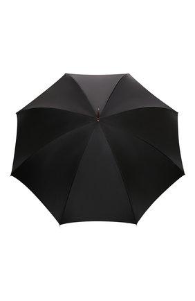 Женский зонт-трость PASOTTI OMBRELLI черного цвета, арт. 189/RAS0 5A488/92/PELLE | Фото 1