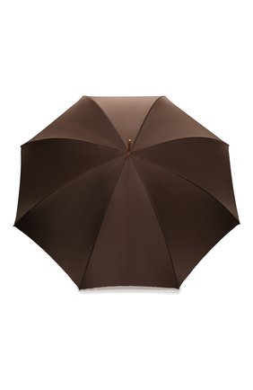 Женский зонт-трость PASOTTI OMBRELLI коричневого цвета, арт. 189/RAS0 5A361/4/PELLE | Фото 1