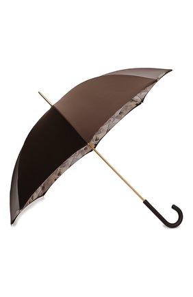 Женский зонт-трость PASOTTI OMBRELLI коричневого цвета, арт. 189/RAS0 5A361/4/PELLE | Фото 2