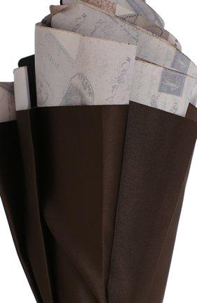 Женский зонт-трость PASOTTI OMBRELLI коричневого цвета, арт. 189/RAS0 5A361/4/PELLE   Фото 5 (Материал: Текстиль, Металл)