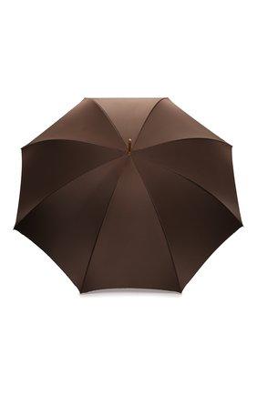 Женский зонт-трость PASOTTI OMBRELLI коричневого цвета, арт. 189/RAS0 58152/1/A | Фото 1