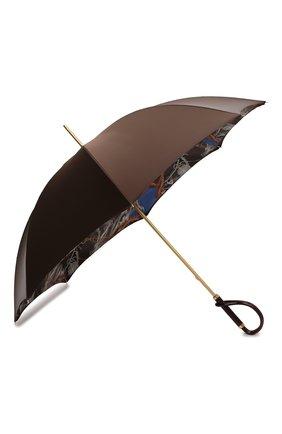 Женский зонт-трость PASOTTI OMBRELLI коричневого цвета, арт. 189/RAS0 58152/1/A | Фото 2