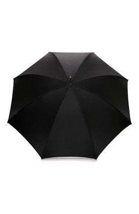 Женский зонт-трость PASOTTI OMBRELLI черного цвета, арт. 189/RAS0 58112/166/A35 | Фото 1