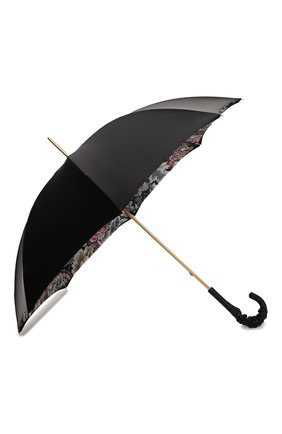 Женский зонт-трость PASOTTI OMBRELLI черного цвета, арт. 189/RAS0 58112/166/A35 | Фото 2