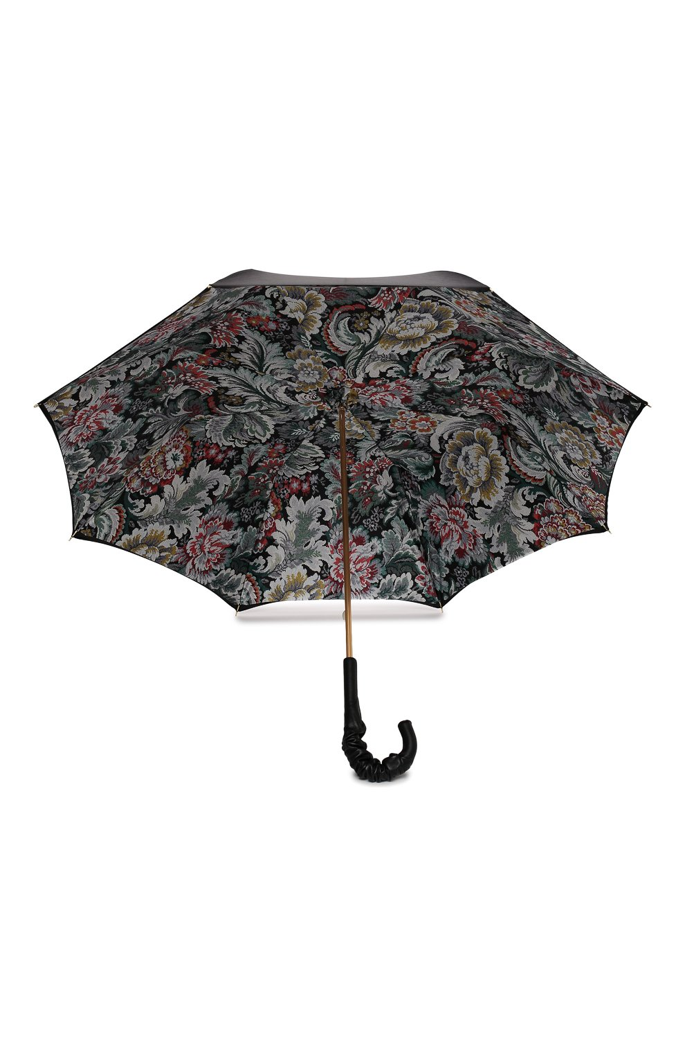Женский зонт-трость PASOTTI OMBRELLI черного цвета, арт. 189/RAS0 58112/166/A35 | Фото 3 (Материал: Текстиль, Синтетический материал, Металл)