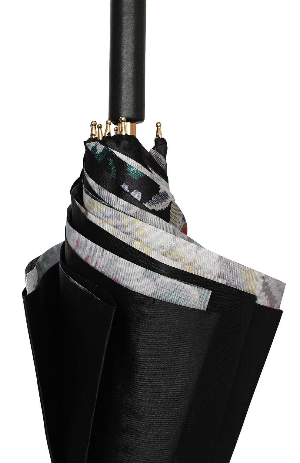 Женский зонт-трость PASOTTI OMBRELLI черного цвета, арт. 189/RAS0 58112/166/A35 | Фото 5 (Материал: Текстиль, Синтетический материал, Металл)